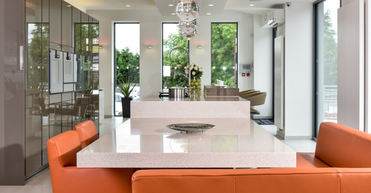 stylish kitchen counter
