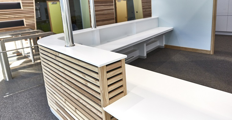 How we reinforce our Corian® solid surfaces | Whitehall