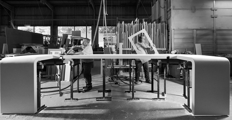 solid-work-surface-fabrication